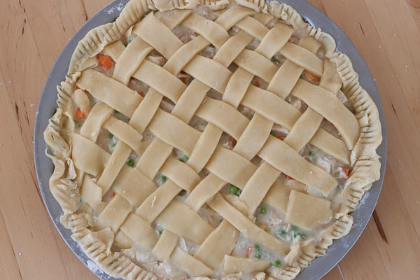 Chicken Pot Pie mit Gitter