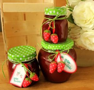 Erdbeer Rharbarber Marmelade