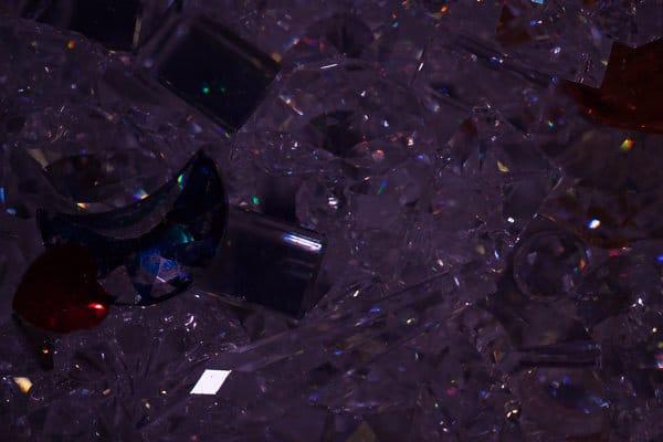 Kristallwand in der Blauen Halle